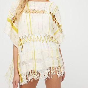 NEW FREE PEOPLE Sundream Striped Cutout Sweater XS